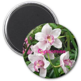FRIDGE MAGNET -  Pink Dendrobian Orchids