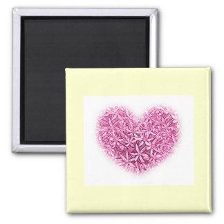 Fridge Magnet - Wedding Favors with heart design.