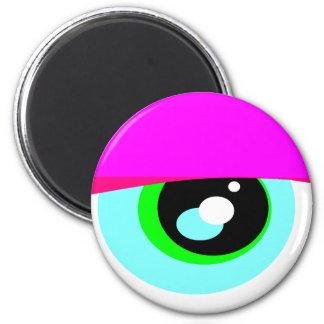 Fridge Monster DroopyEye1 (magnet) 2 Inch Round Magnet