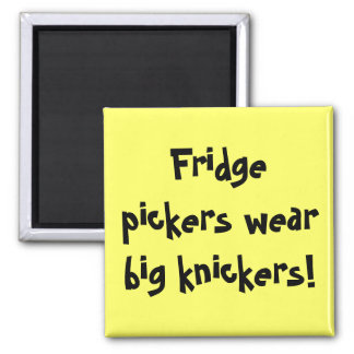 Fridge pickers wear big knickers! magnet