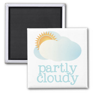 Fridge Weather - PARTLY CLOUDY Magnets
