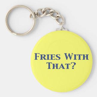 Fríe con ése los regalos llavero redondo tipo pin
