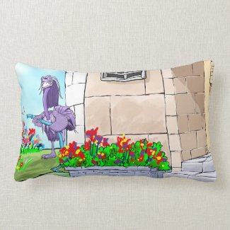 Frieburd Loves Flowers Throw Pillow