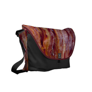 Fried bacon messenger bag