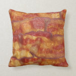 Fried Bacon Photo Throw Pillow