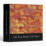 Fried Bacon Strip 3 Ring Binder