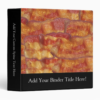 Fried Bacon Strip 3 Ring Binder
