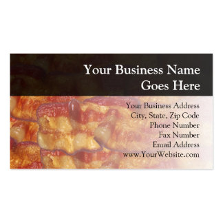 Fried Bacon Strip Business Card Template