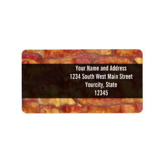 Fried Bacon Strip Label