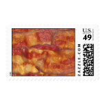 Fried Bacon Strip Postage Stamps