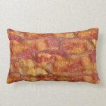 Fried Bacon Strip Throw Pillow