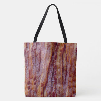 Fried bacon tote bag