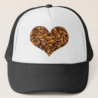 Fried Bamboo Worms Heart Trucker Hat
