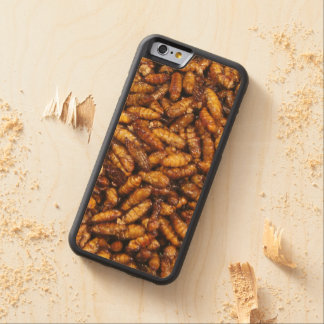 Fried Bamboo Worms ... Thai Street Food Carved® Maple iPhone 6 Bumper