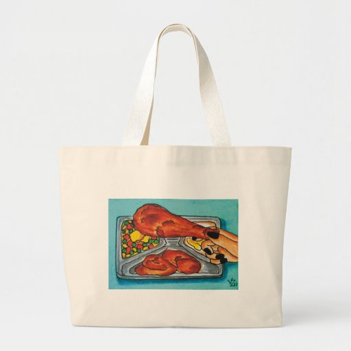 Fried Chicken Dinner Canvas Bags