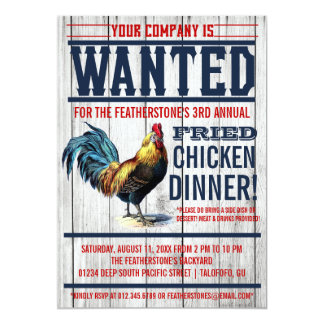 Fried Chicken Dinner Party Invitations