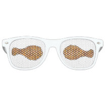 Fried Chicken Leg Drumstick Southern Soul Food Retro Sunglasses