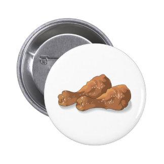 fried chicken legs drumsticks pinback button