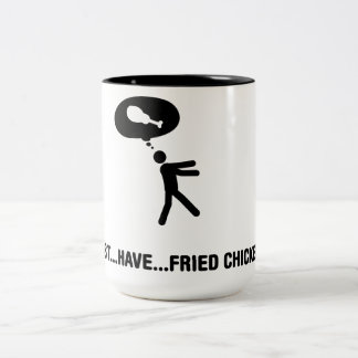Fried Chicken Lover Two-Tone Coffee Mug
