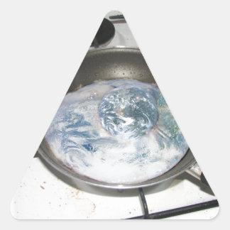 Fried Earth Triangle Sticker