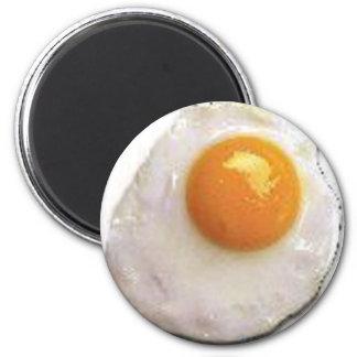 fried_egg2 imán redondo 5 cm