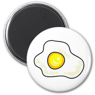 Fried Egg 2 Inch Round Magnet