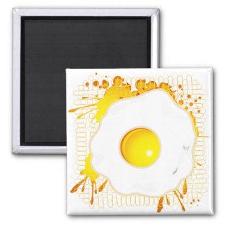 Fried_Egg 2 Inch Square Magnet