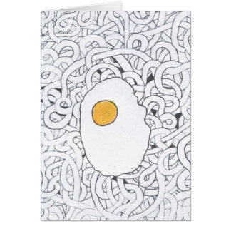 Fried Egg and Spaghetti Card