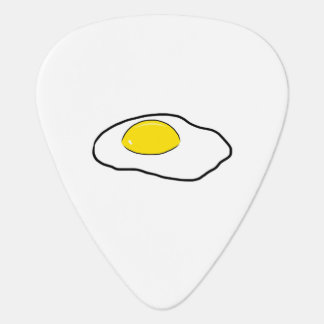 Fried Egg Cartoon Drawing Poached Eggs Sunny Side Guitar Pick