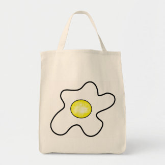Fried Egg Grocery Tote Bag