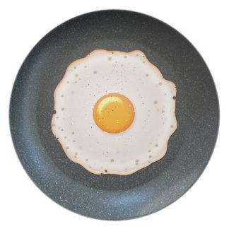 Fried Egg in Pan - Melamine Plate