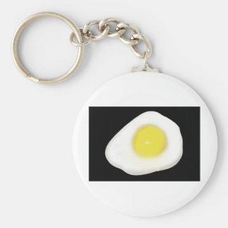 Fried Egg on Black Keychain