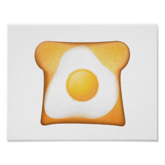 Fried Egg On Toast Poster