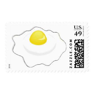 fried egg postage stamp