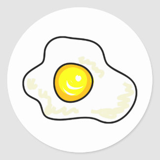 Fried Egg Round Stickers
