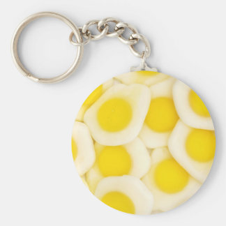 fried egg sweets background key chain