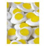 Fried egg sweets letterhead design