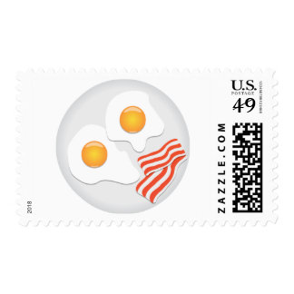 Fried Eggs And Bacon Postage