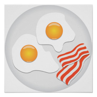 Fried Eggs And Bacon Poster