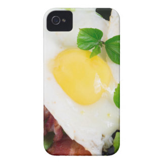 Fried eggs and bacon with herbs and lettuce iPhone 4 cover