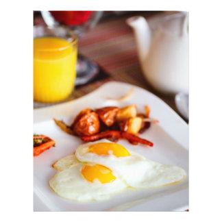 Fried eggs breakfast flyer