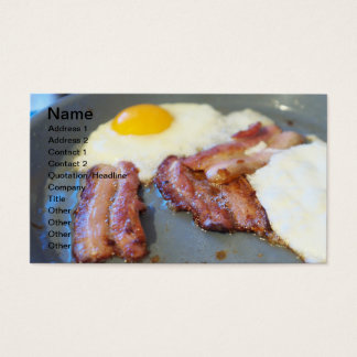 Fried eggs business card