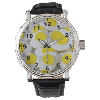 """Fried eggs"" design wrist watch"