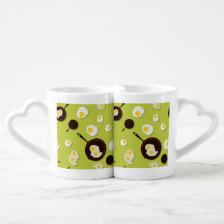 Fried Eggs Fun Food Design Coffee Mug Set