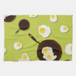 Fried Eggs Fun Food Design Kitchen Towels