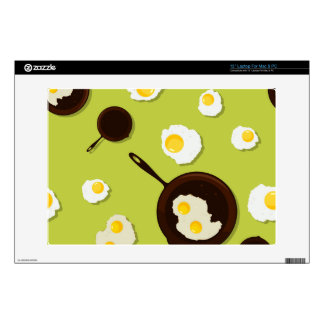 Fried Eggs Fun Food Design Laptop Decals