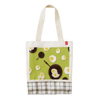 Fried Eggs Fun Food Design Zazzle HEART Tote Bag