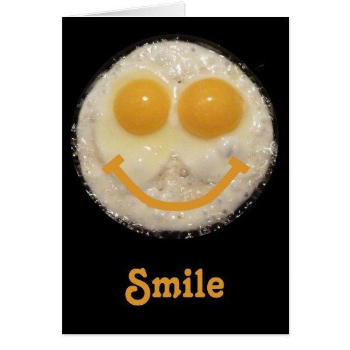 Fried Eggs Happy Face Blank Notecard | Zazzle: zazzle.com/fried_eggs_happy_face_blank_notecard-137775591236059504
