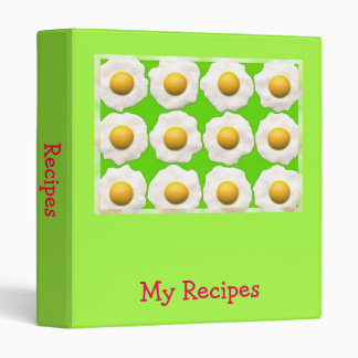 Fried eggs pop art recipe folder