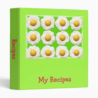 Fried eggs pop art recipe folder binders